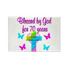 JOYFUL 70TH Rectangle Magnet (10 pack)