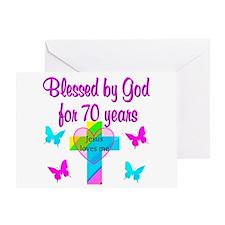 JOYFUL 70TH Greeting Card