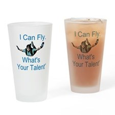 Skydiving Drinking Glass