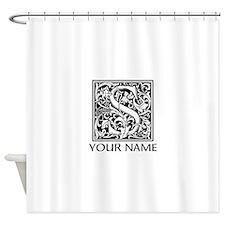 Custom Decorative Letter S Shower Curtain