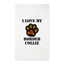 I Love My Border Collie 3'x5' Area Rug