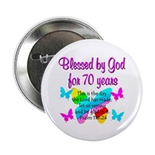 """70TH BUTTERFLY 2.25"""" Button"""