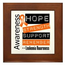 Leukemia Strength Framed Tile