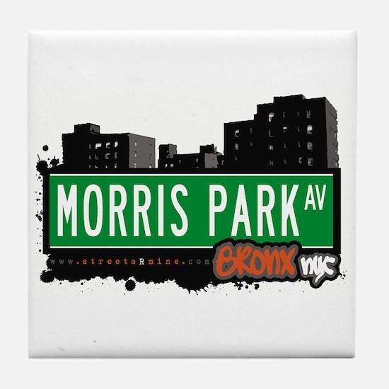 Morris Park Av, Bronx, NYC Tile Coaster
