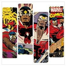 Falcon Comic Panel Wall Art Poster