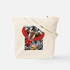 Comic Falcon Tote Bag