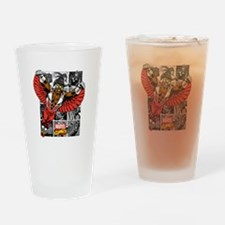 Comic Falcon Drinking Glass