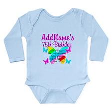 75TH BUTTERFLY Long Sleeve Infant Bodysuit