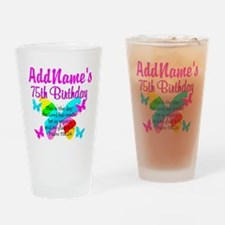75TH BUTTERFLY Drinking Glass