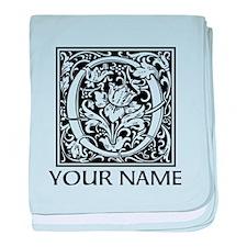 Custom Decorative Letter O baby blanket