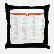 HTML5 Cheat Sheet Throw Pillow