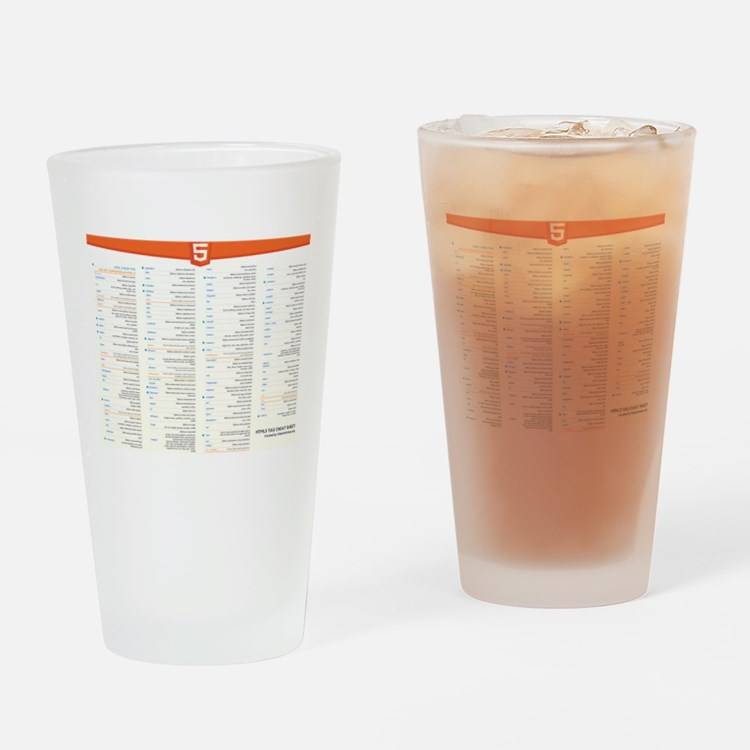 HTML5 Cheat Sheet Drinking Glass