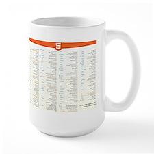 HTML5 Cheat Sheet Mugs