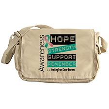 Hereditary Breast Cancer Strength Messenger Bag