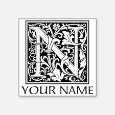 Custom Decorative Letter N Sticker