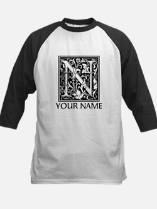 Custom Decorative Letter N Baseball Jersey