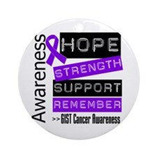 GIST Cancer Strength Ornament (Round)