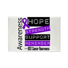 GIST Cancer Strength Rectangle Magnet