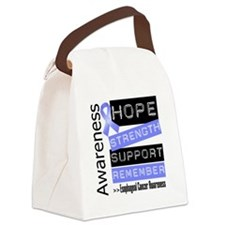 Esophageal Cancer Strength Canvas Lunch Bag