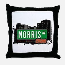 Morris Av, Bronx, NYC Throw Pillow