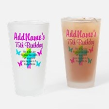 75TH CHRISTIAN Drinking Glass