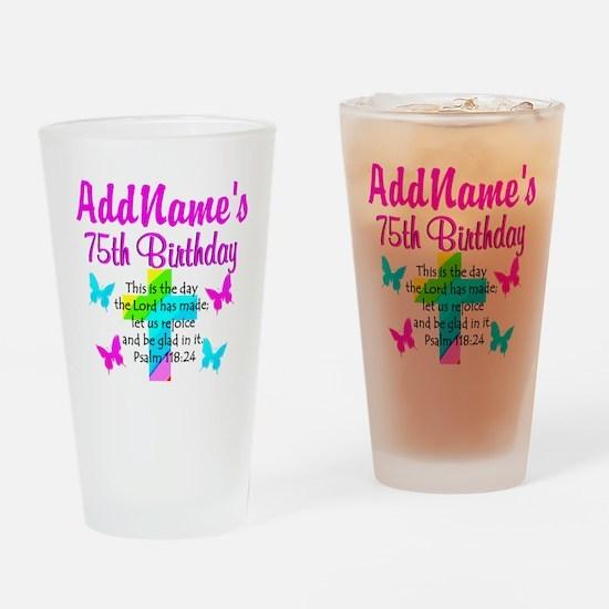75TH CHRISTIAN Drinking Glass