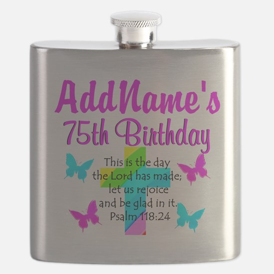75TH CHRISTIAN Flask