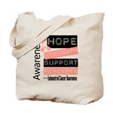 Endometrial cancer Canvas Totes