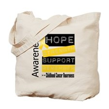 Childhood Cancer Strength Tote Bag