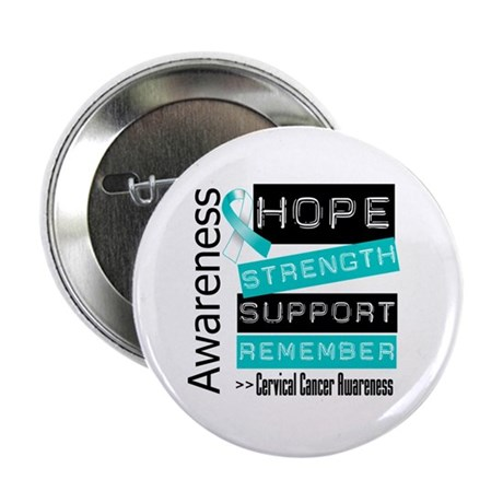 """Cervical Cancer Strength 2.25"""" Button (10 pack)"""