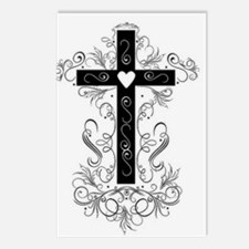 Flourish Cross Postcards (Package of 8)
