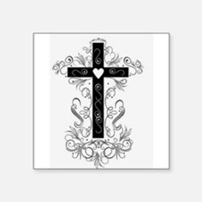 Flourish Cross Sticker