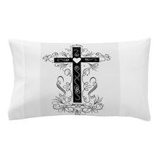 Flourish Cross Pillow Case