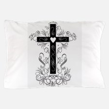 Flourish Cross Pillow Case