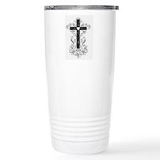 Flourish Cross Travel Mug