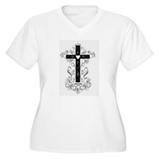 Flourish Cross Plus Size T-Shirt