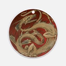 Vintage Dragon Round Ornament