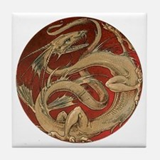 Vintage Dragon Tile Coaster