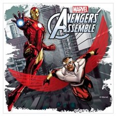 Falcon and Iron Man Wall Art Poster