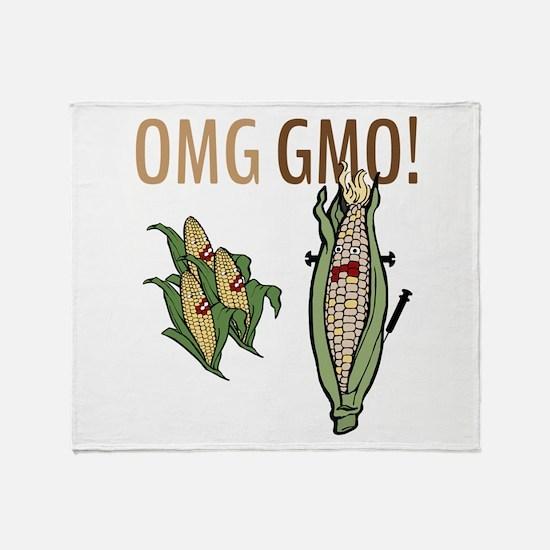 OMG GMO! Throw Blanket