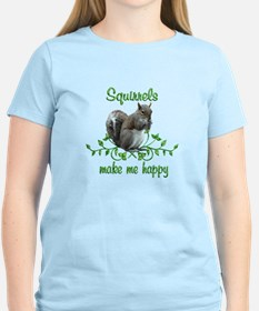 Squirrels Make Me Happy T-Shirt