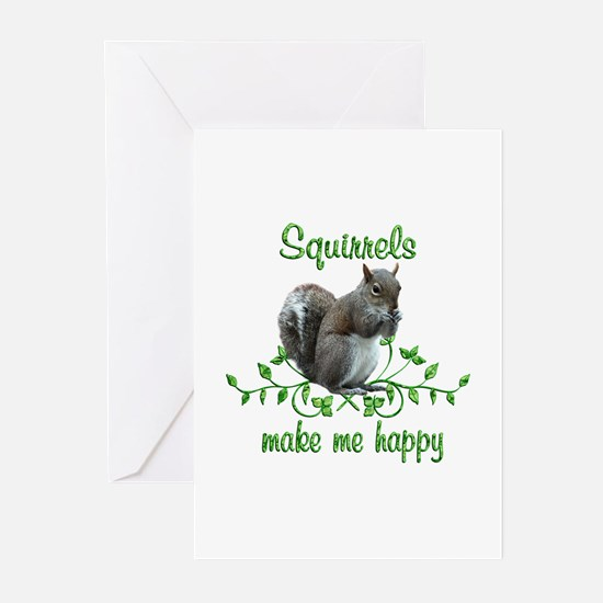 Squirrels Make Me Happy Greeting Cards (Pk of 20)
