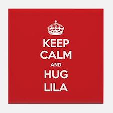 Hug Lila Tile Coaster