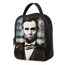 President Abraham Lincoln Neoprene Lunch Bag