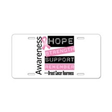 Breast Cancer Strength Aluminum License Plate