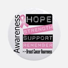 Breast Cancer Strength Ornament (Round)
