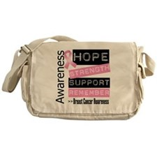 Breast Cancer Strength Messenger Bag