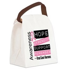 Breast Cancer Strength Canvas Lunch Bag