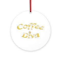 Coffee Diva Ornament (Round)