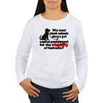 Stupidity of Humans (BSL) Women's Long Sleeve T-Sh